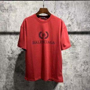 Balenciaga Black Logo Tee Red